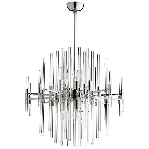 "Cyan Design Quebec 26 1/4""W Polished Nickel 6-Light Pendant"