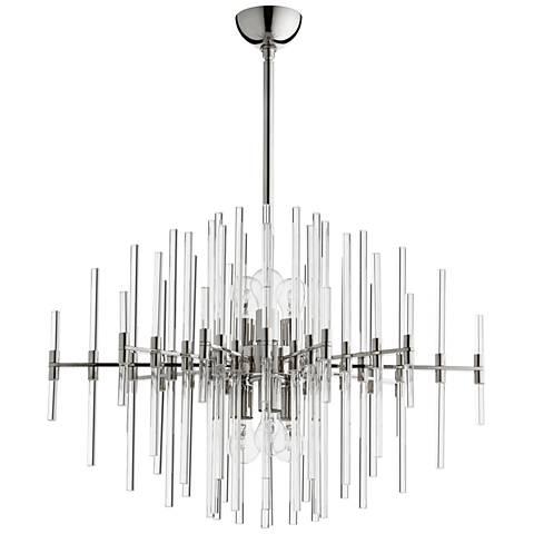 "Cyan Design Quebec 30 1/2""W Polished Nickel 6-Light Pendant"