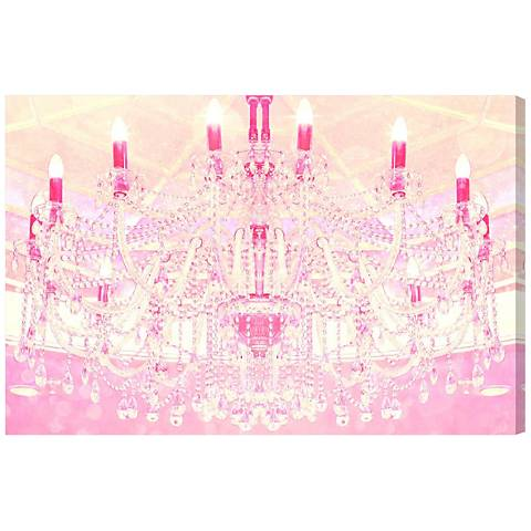 Oliver Gal Strawberry Vanilla Lights Canvas Wall Art