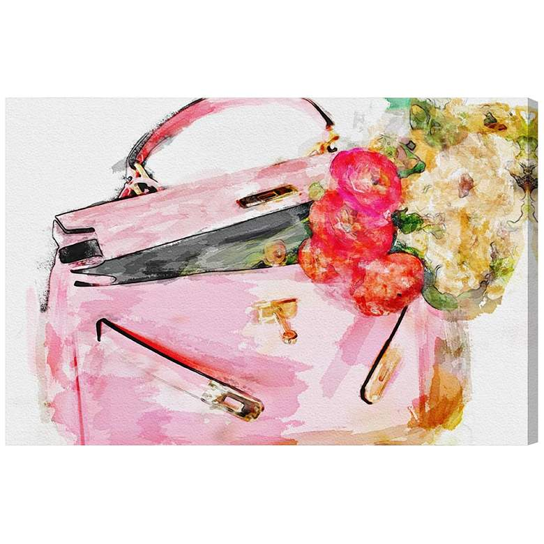"""Oliver Gal Blooming Love 15"""" Wide Canvas Wall Art"""