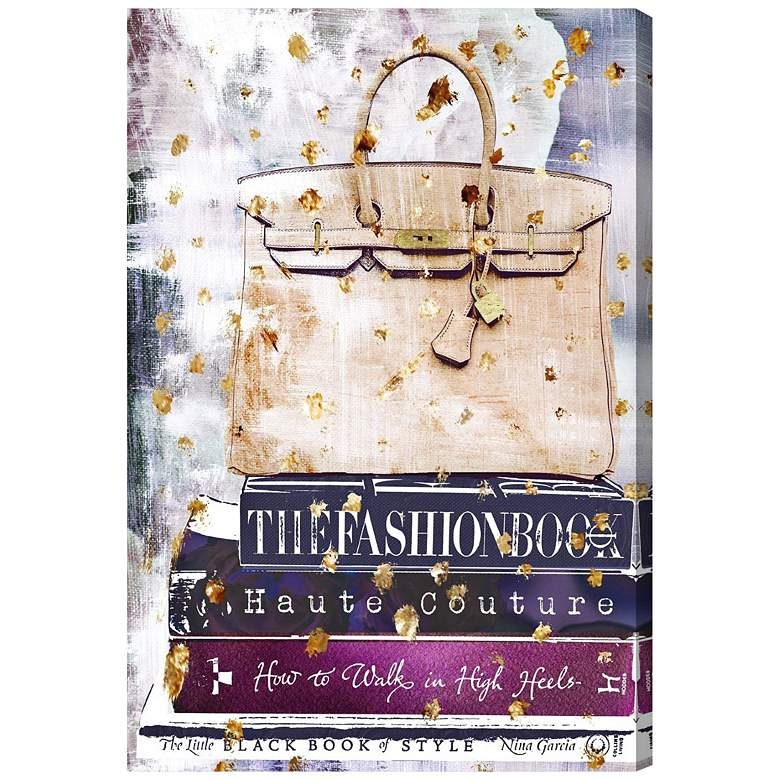 """Oliver Gal Fashion A to Z 15"""" High Canvas Wall Art"""