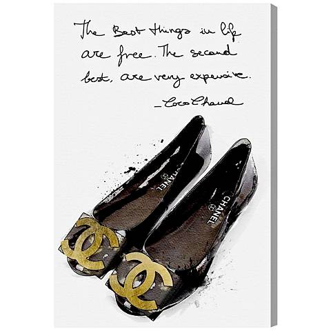 Oliver Gal The Best Things in Flats Canvas Wall Art