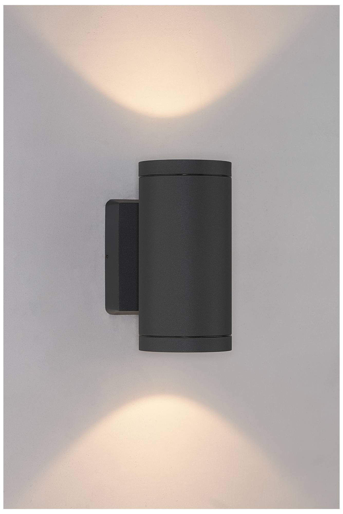 Bruck cylinder 8 high anthracite led outdoor wall light