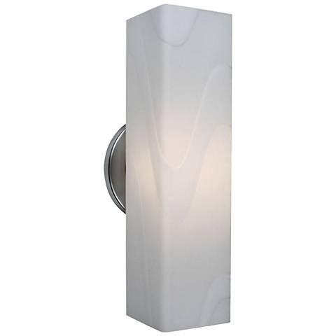"""Bruck Houston 12"""" High White Artisan Glass LED Wall Sconce"""