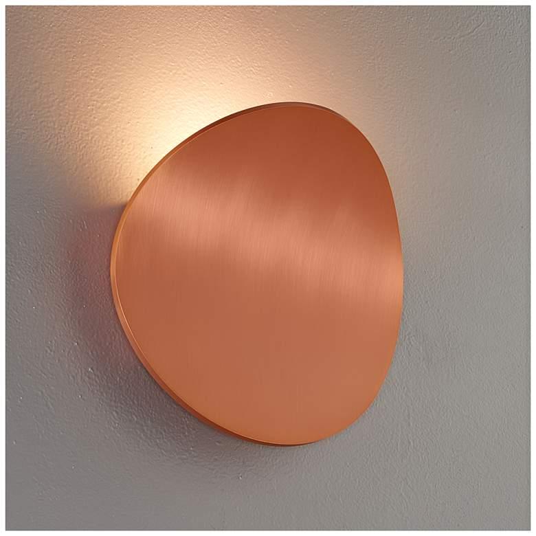 "Bruck Lunaro 8 1/4"" High Brushed Copper LED Wall Sconce"