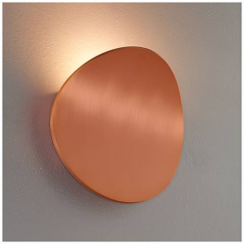 "Bruck Lunaro 8 1/4"" High Brushed Copper LED Wall Sconce"