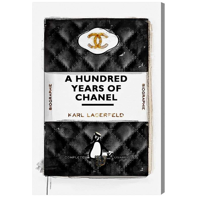 """Oliver Gal A Hundred Years of Chanel 15""""H Canvas Wall Art"""