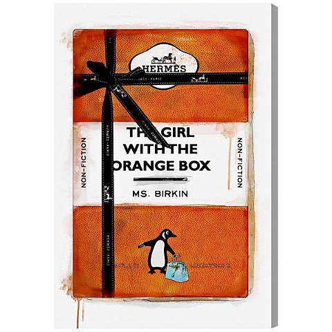 Oliver Gal The Girl with the Orange Box Canvas Wall Art