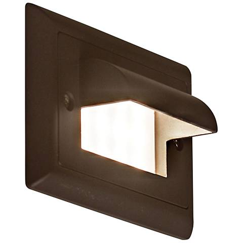 "Step 4 3/4""W Horizontal Cove Amber LED Outdoor Step Light"