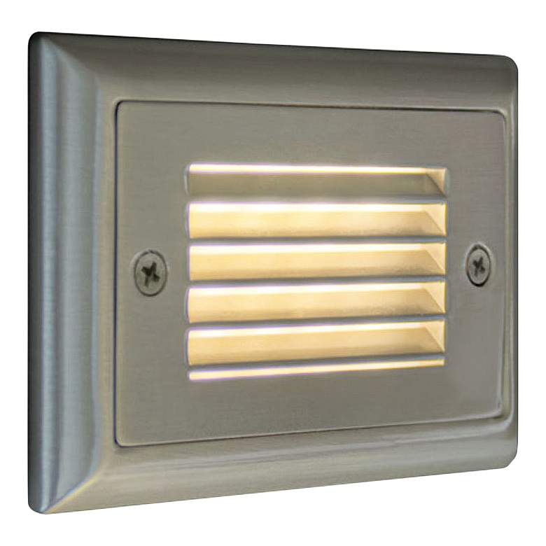 "Step 4 3/4""W Horizontal Louver Amber LED Outdoor Step Light"