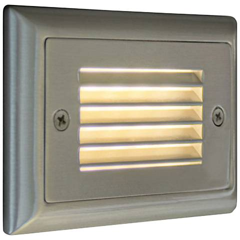 "Step 4 3/4""W Horizontal Louver Amber LED Outdoor Step Light"