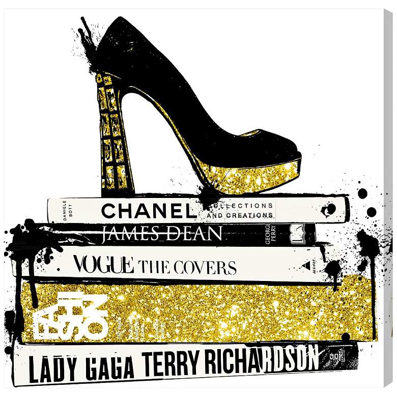 """Oliver Gal Rad about Fashion 12"""" Square Canvas Wall Art"""