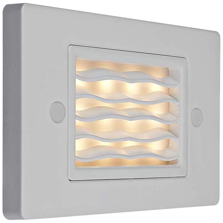 "Step 4 3/4""W Horizontal Wave Amber LED Outdoor Step Light"
