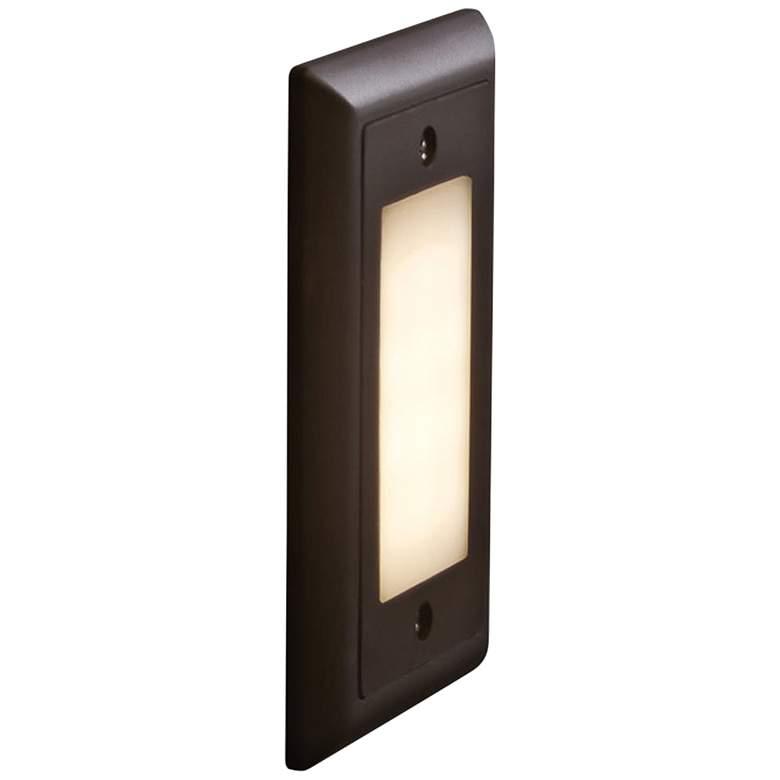 "Bruck Step 4 3/4""W Opal Lens Amber LED Outdoor Step Light"