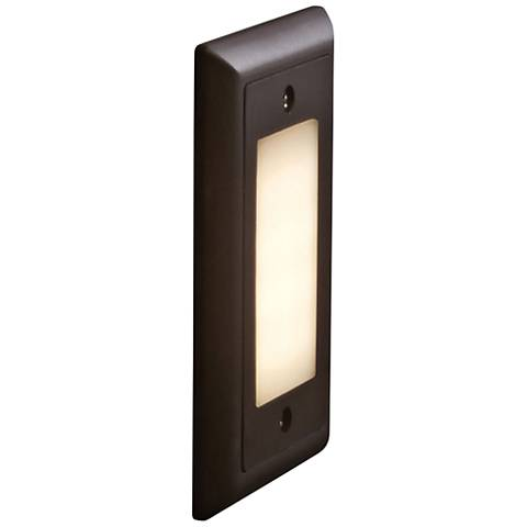 "Bruck Step 4 3/4""W Opal Lens Amber LED Outdoor Step Light"