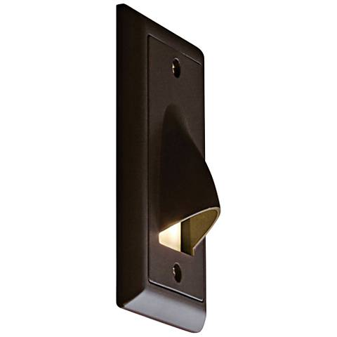 "Bruck Step 3""W Vertical Cove Amber LED Outdoor Step Light"