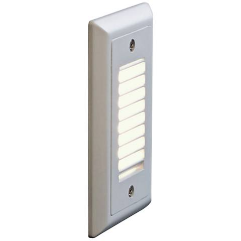 "Bruck Step 3""W Vertical Louver 3000K LED Outdoor Step Light"