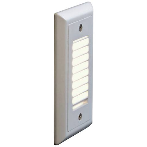 """Bruck Step 3""""W Vertical Louver Amber LED Outdoor Step Light"""