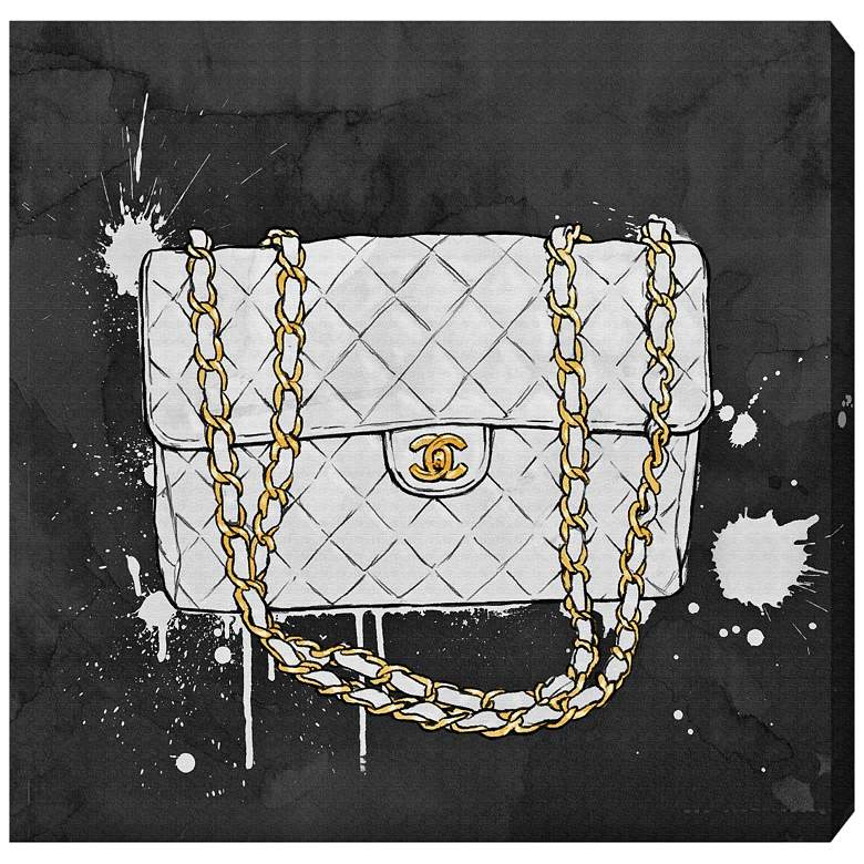 """Oliver Gal Everything But My White Bag 12"""" Square Wall Art"""