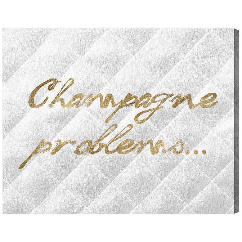 "Oliver Gal Champagne Issues Quilted 16"" Wide Canvas Wall Art"