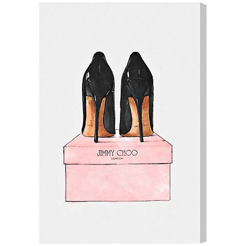 Oliver Gal Night Out Stilettos Canvas Wall Art