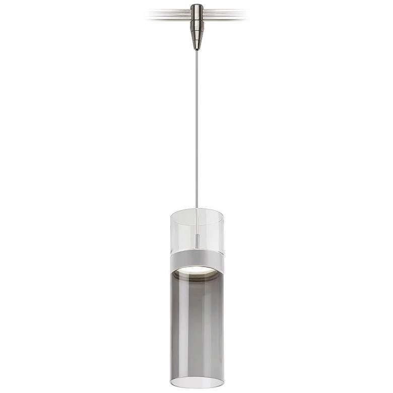 "Manette 3 1/2"" Wide Satin Nickel LED Monorail Mini Pendant"