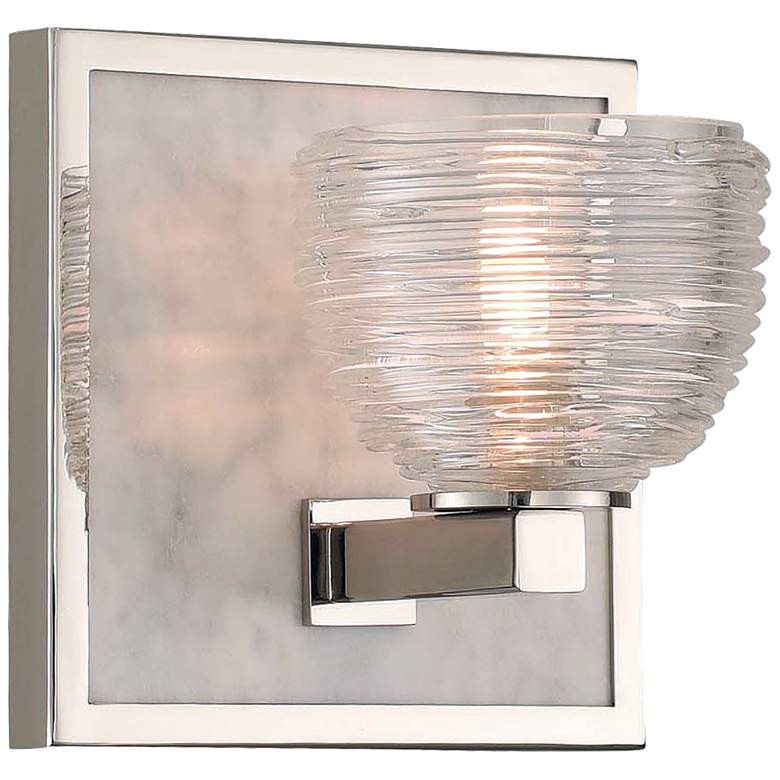 "Bianco 6"" High Polished Nickel LED Wall Sconce"