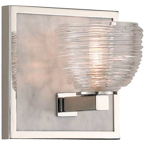 "Bianco 6"" High Polished Nickel LED Wall Sconce"