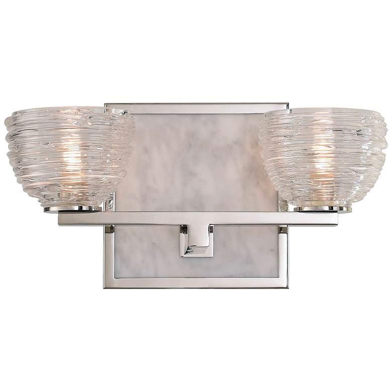 "Bianco 6"" High Polished Nickel 2-LED Wall Sconce"