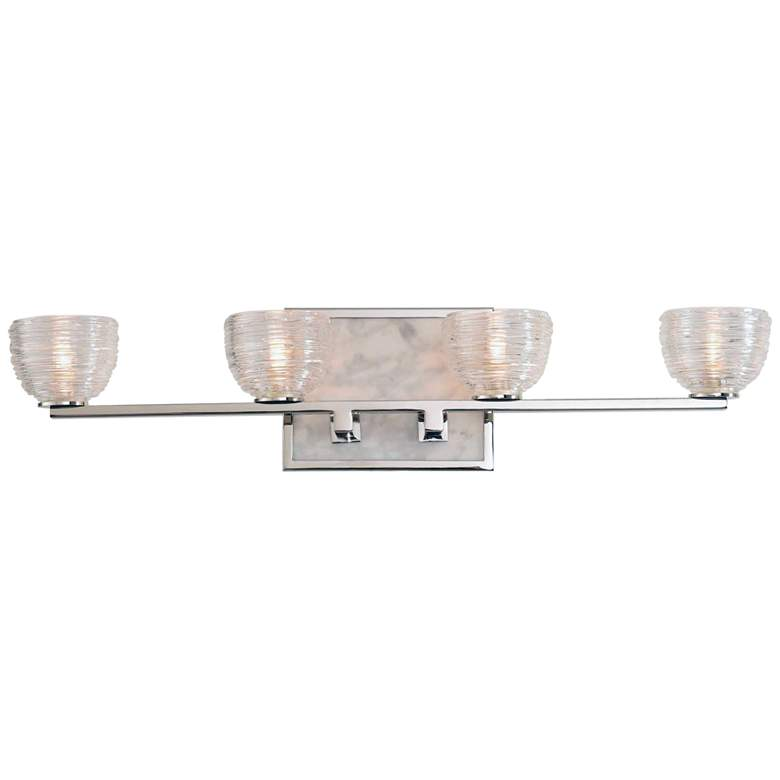 "Bianco 24"" Wide Polished Nickel 4-LED Bath Light"