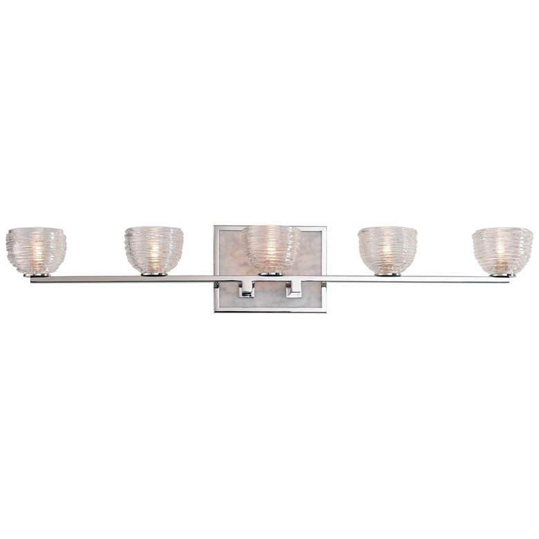 "Bianco 30"" Wide Polished Nickel 5-LED Bath Light"