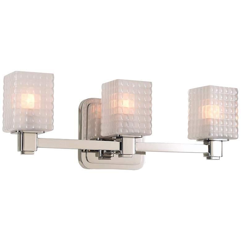 "Avanti 17"" Wide Polished Nickel 3-LED Bath Light"