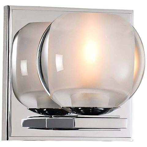 "Corona 5"" High Chrome LED Wall Sconce"