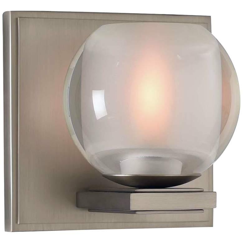 "Corona 5"" High Satin Nickel LED Wall Sconce"