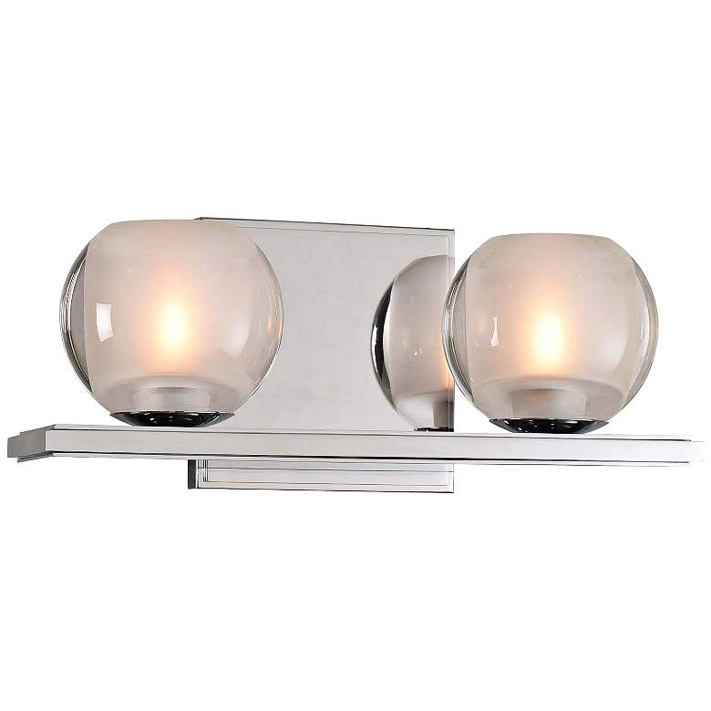 "Corona 5"" High Chrome 2-LED Wall Sconce"