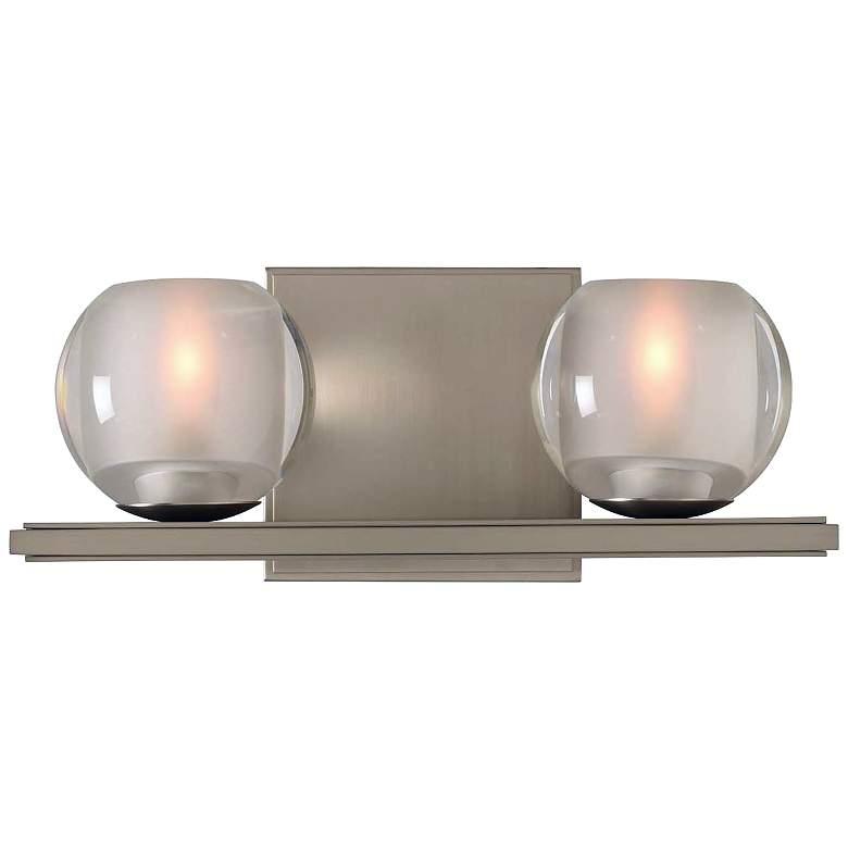 "Corona 5"" High Satin Nickel 2-LED Wall Sconce"