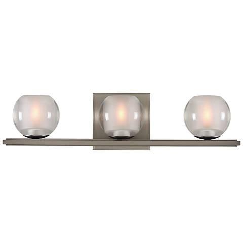 "Corona 19"" Wide Satin Nickel 3-LED Bath Light"