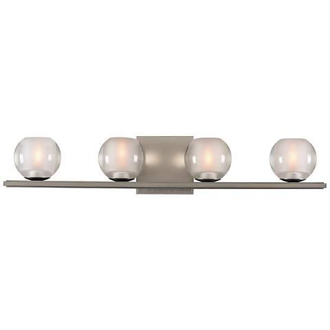 "Corona 26"" Wide Satin Nickel 4-LED Bath Light"
