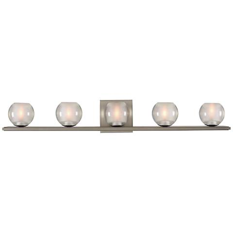 "Corona 33"" Wide Satin Nickel 5-LED Bath Light"
