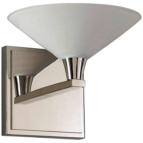 "Galvaston 6"" High Polished Nickel LED Wall Sconce"