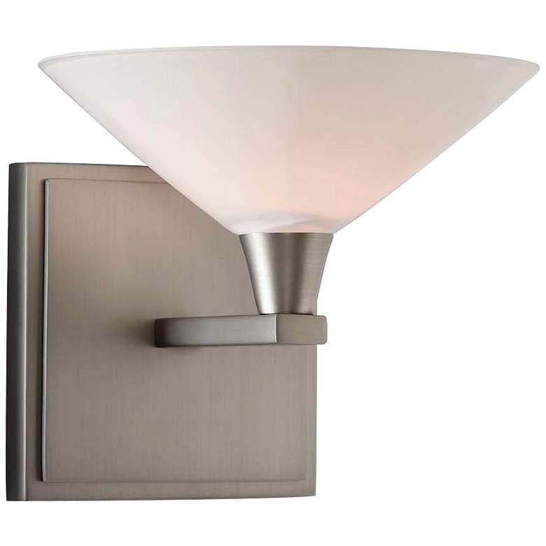 "Galvaston 6"" High Satin Nickel LED Wall Sconce"