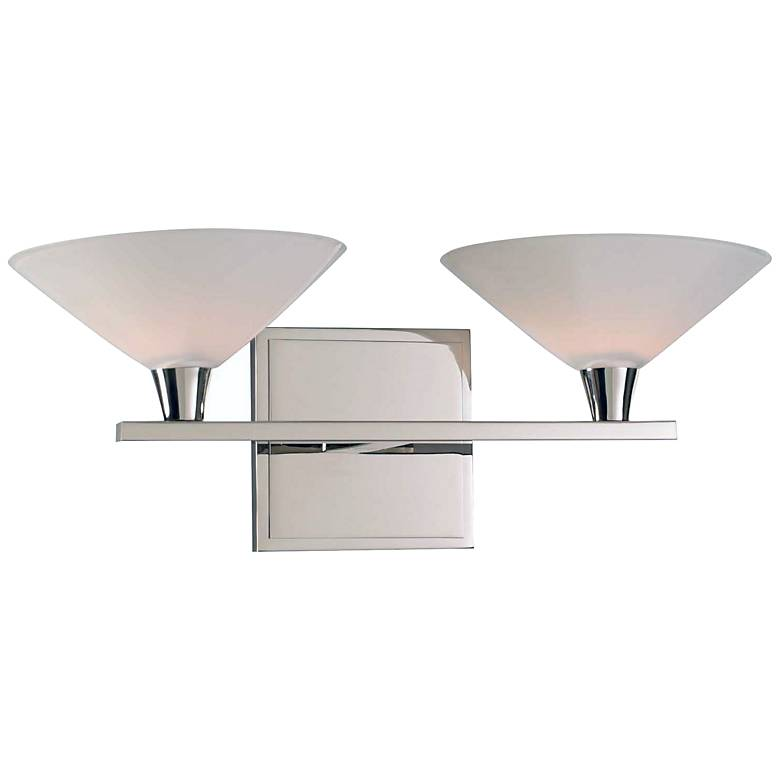 "Galvaston 6"" High Polished Nickel 2-LED Wall Sconce"