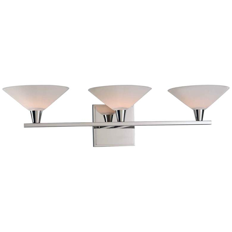 "Galvaston 23"" Wide Polished Nickel 3-LED Bath Light"