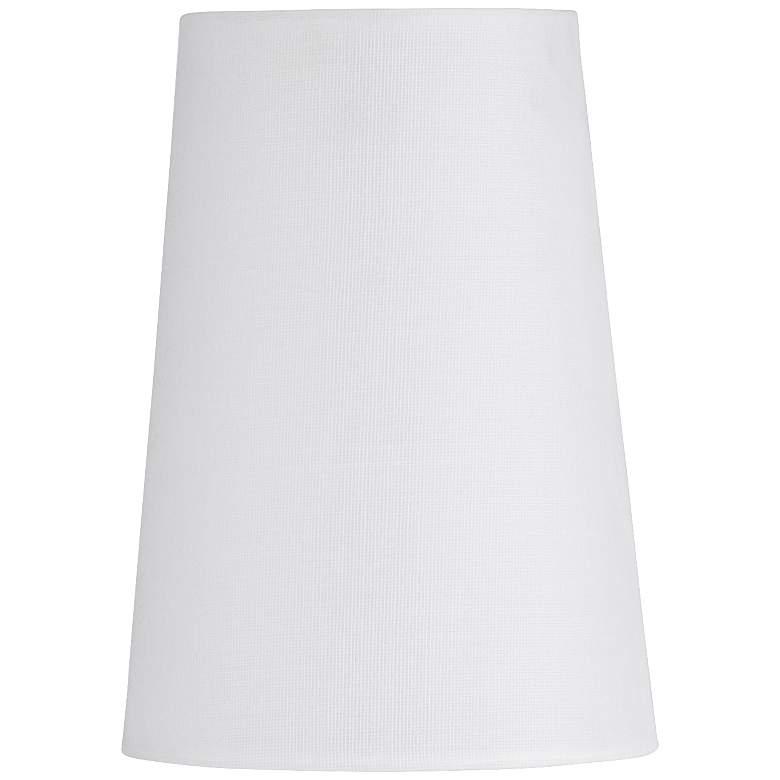 "23M03 - 3.5x4.8x6.5""H White Sandstone Linen Empire Shade"