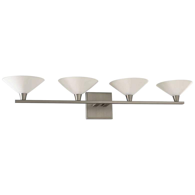 "Galvaston 31"" Wide Satin Nickel 4-LED Bath Light"