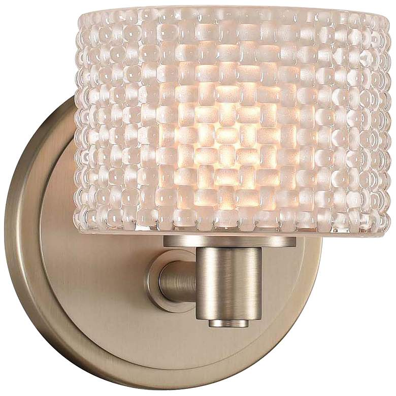 """Willow 6"""" High Satin Nickel LED Wall Sconce"""