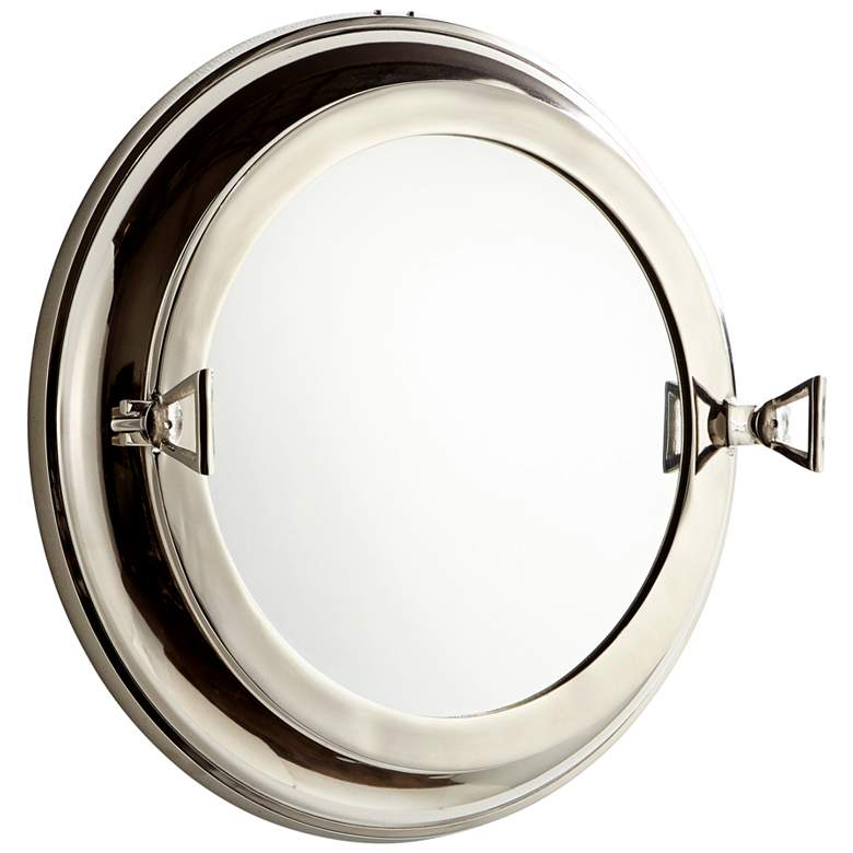 "Cyan Design Seeworthy Nickel 21"" Round Wall Mirror"