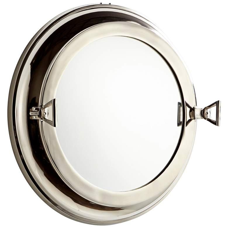 """Cyan Design Seeworthy Nickel 21"""" Round Wall Mirror"""