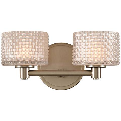 "Willow 6"" High Satin Nickel 2-LED Wall Sconce"