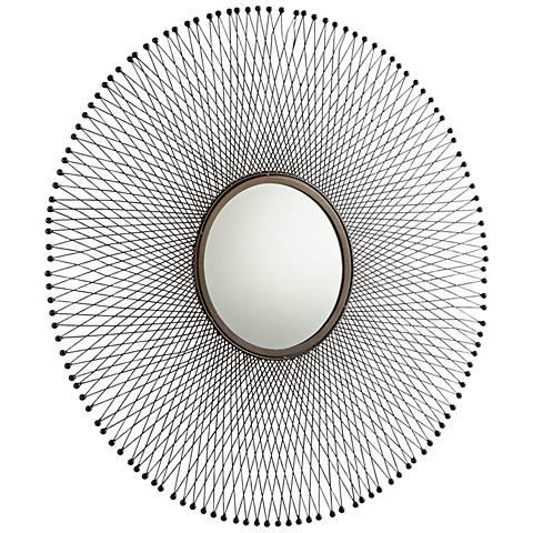 """Cyan Design Gabriela Antique Brass 34"""" Round Wall Mirror"""